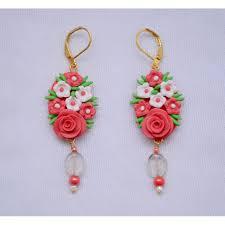 designer earrings pretty pink flower designer earrings navodyami
