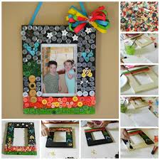 sewing and crafting with sarah summer craft for kids diy button frame
