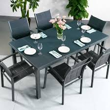 grey dining table set dining table set beatrice grey 6 person aluminium glass