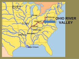 ohio river valley map and indian war