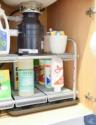 easy home expandable under sink shelf practical solutions for getting staying organized in the kitchen