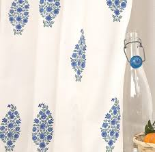 French Country Wallpaper by Amazon Com Attiser Shower Curtain Southern Nights Blue Home