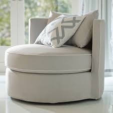 Slipcover For Chair And Ottoman Round About Slipcover Chair Pbteen