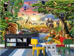 3d room wallpaper custom photo non woven mural colorful grassland
