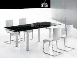 Black Glass Extending Dining Table Black Expandable Glass Dining Table Dans Design Magz