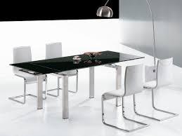 Black Glass Extending Dining Table Black Expandable Glass Dining Table Dans Design Magz