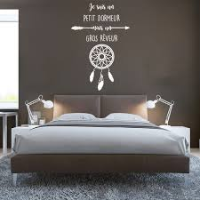stickers phrase chambre sticker citation je suis un petit dormeur attrape rêve stickers