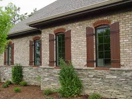 Home Exterior Design Brick And Stone Exterior Interactive Image Of Front Porch Decoration Using Dark