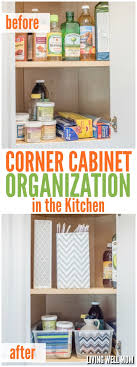 how to organize corner kitchen cabinets corner cupboard organization in the kitchen