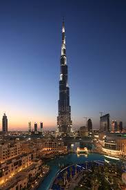 der burj khalifa ist das highlight dubais in downtown ragt das