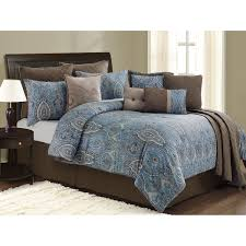 Blue And Brown Bedroom by Blue And Brown Comforter Sets With Brown Blanket And Cushions On