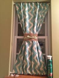 Curtains With Ribbon Ties My Copycat Version Of Pottery Barn S Ticking Stripe Ribbon Tie