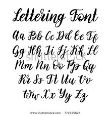 calligraphy font vector lettering alphabet calligraphy font image vectorielle