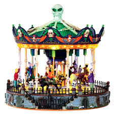 kmart halloween lemax spooky town collection scary go round with 4 5v adaptor
