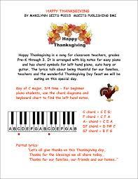 happy thanksgiving easy piano w lyrics for thanksgiving