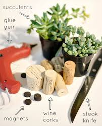 How To Make A Succulent Planter Wine Cork Magnet Planters