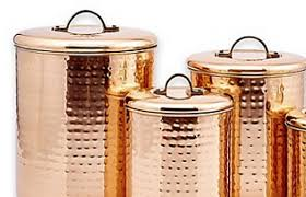 kitchen tea coffee sugar canisters vonshef set of 3 copper tea coffee sugar canisters kitchen storage