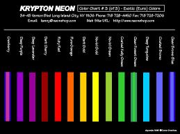 list of colours neon colours