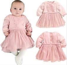 pink christening lace dress for baby infant newborn