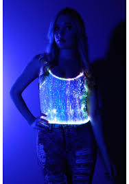 Light Purple Tank Top Fiber Optic Tank Top