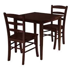 dark brown wooden chairs with brown fabric seat and back combined