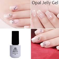 born pretty opal jelly gel white soak off manicure nail art uv gel