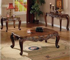 pc traditional coffee 2 end table set living room table set for