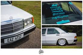 lowered mercedes 190e bag riders slam sanctuary