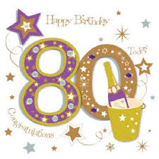 happy 80th birthday greeting card by talking pictures cards