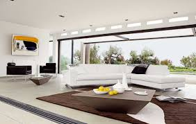 Modern White Arm Chairs Furniture Contemporary White Coffe Table And Black Sofa In Modern