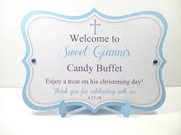 Baby Shower Candy Buffet Sign by Candy Buffet Sign Christening Baptism By Creativecandydesign