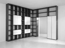 Small Wall Shelf Plans by Black Wooden Leaning Ladder Books Shelves Placed On The Gray Wall