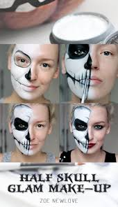 best 25 half skull makeup ideas on pinterest half skeleton
