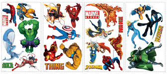 roommates marvel heroes peel and stick wall decals guiry roommates marvel heroes peel and stick wall decals