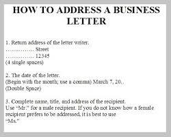 Business Letter Return Address how to address a business letter to a company letter master