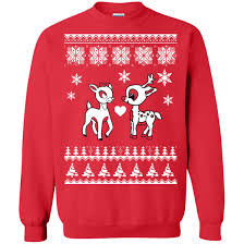 rudolph sweater rudolph and clarice sweater shirt icestork