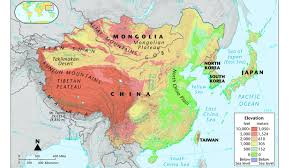 Taklamakan Desert Map Geography Of China Ms Moran Geography Located In Asia Yellow