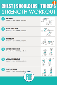 workout routine chest shoulders triceps sport fatare
