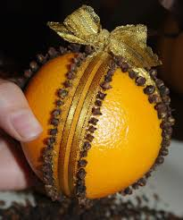 orange and clove pomander easy to make and lovely gift