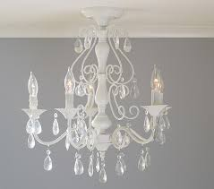 Teen Chandeliers Clear Alyssa Flushmount Chandelier Pottery Barn Kids