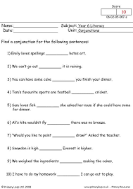 primaryleap co uk connectives worksheet