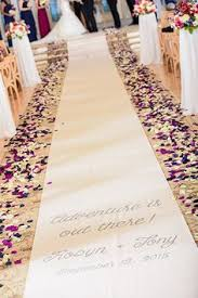 wedding wishes adventure two become one wedding aisle runner wedding aisle runners