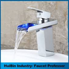 bathroom faucet with led light china fancy design chrome led light copper bathroom shower basin