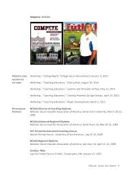 Soccer Player Resume Example by Messias Soccer Resume