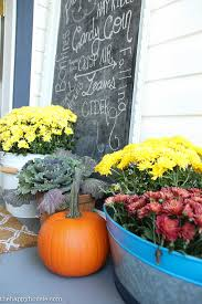key ingredients for a simple fall front porch the happy housie