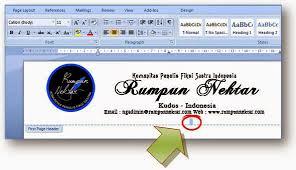 membuat kop surat organisasi komunitas penulis fiksi sastra indonesia