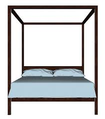 four poster bed 3d model low poly cgtrader