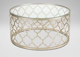 gold drum coffee table round trellis coffee table