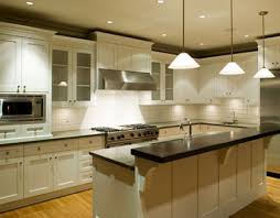 kitchen pendant lighting over island floor ceramic slate backsplas