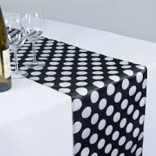 black and white table runners cheap 14 x 108 in polka dot satin table runners black white
